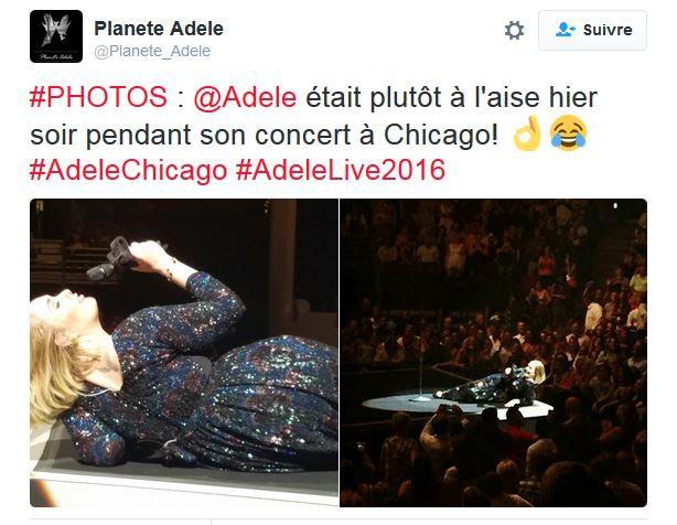 Adele en concert à Chicago
