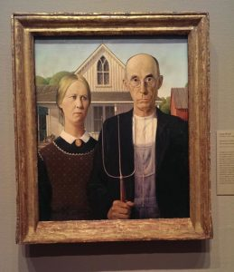 "Grant Wood ""American Gothic"" à l'Art Institute of Chicago"