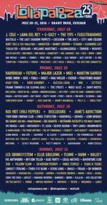 Lineup 2016 du Festival Lollapalooza à Chicago