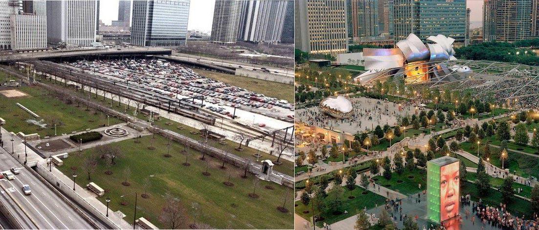 Millenium Park - avant/après