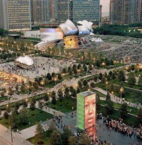 Millennium Park après sa transformation en 2004