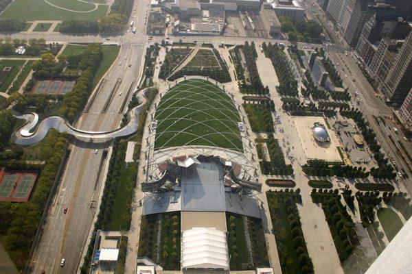 Millennium Park - vue du ciel