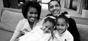 Michelle, Sasha, Barack et Malia Obama