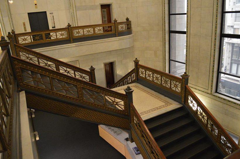 Escaliers du Cultural Center de Chicago