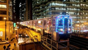 Train de Noël à Chicago