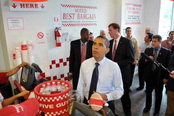 Barack Obama au Five Guys