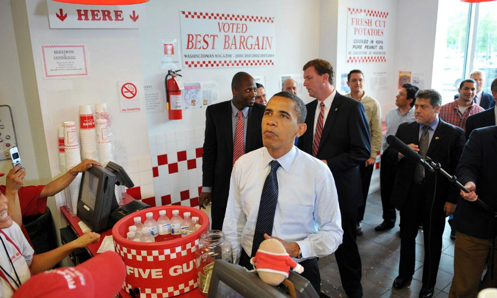 Barack Obama au Five Guys