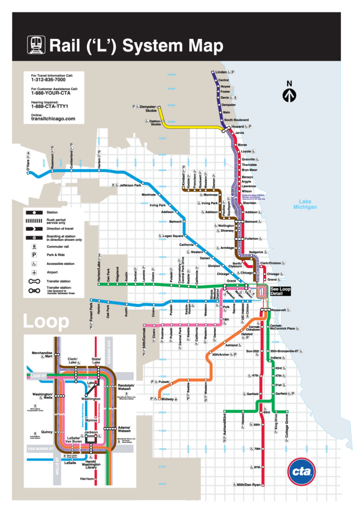 Chicago - plan métro