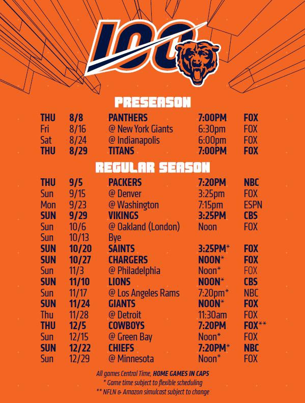 Chicago Bears - saison 2019
