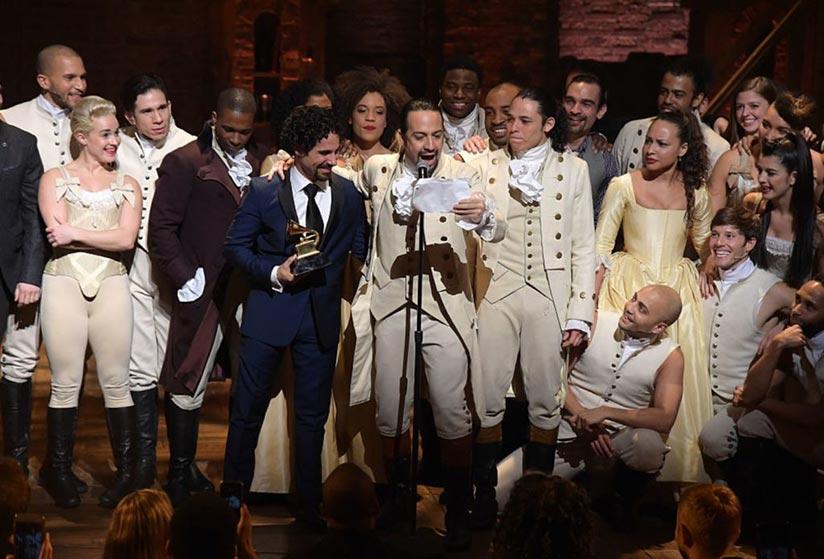 Lin-Manuel Miranda récompensé pour le musical Hamilton par un Grammy