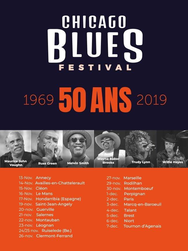 Chicago Blues Festival - la tournée des 50 ans