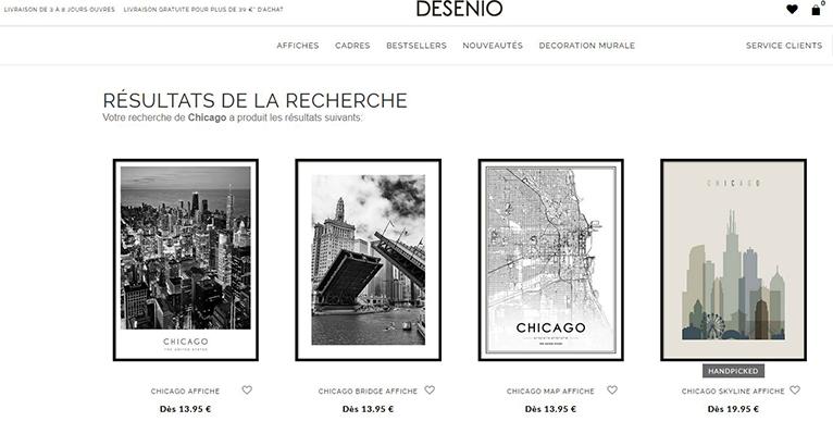 Affiche Chicago - Desenio