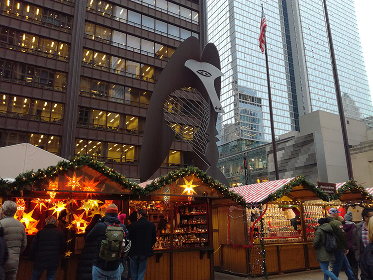 Christkindlmarket - Daley Plaza à Chicago