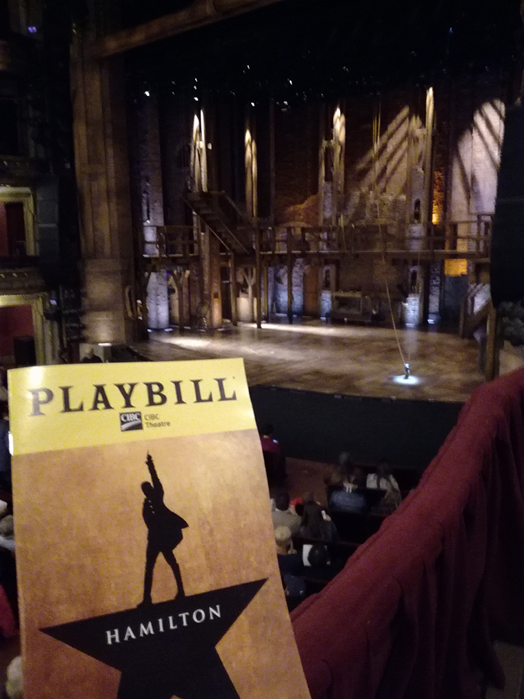 Hamilton le musical au CIBC Theatre de Chicago