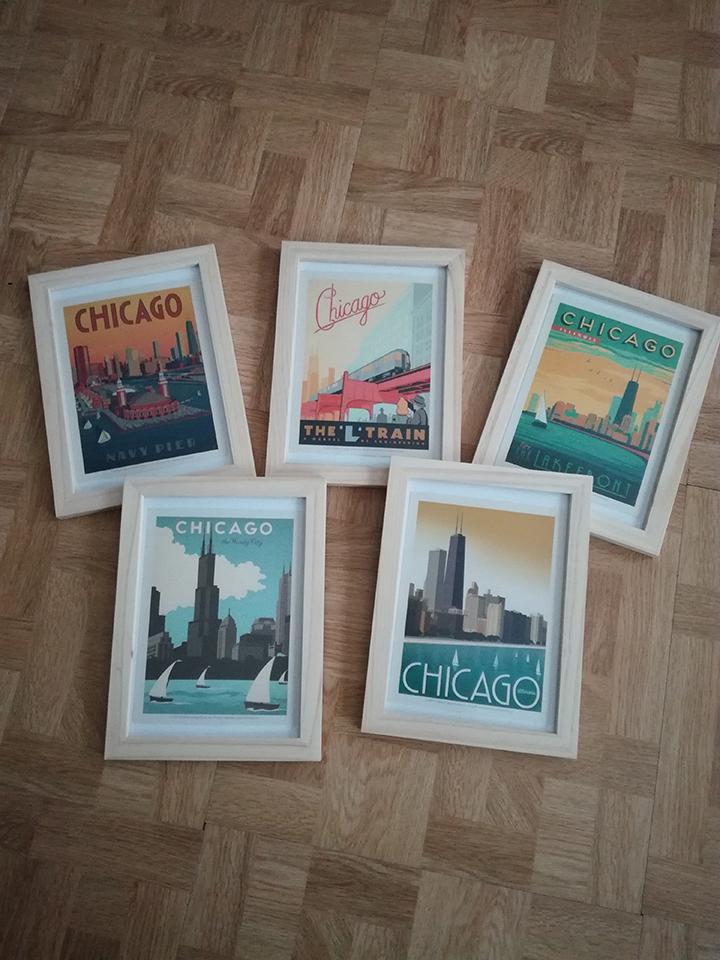 Cartes postales Chicago en décoration