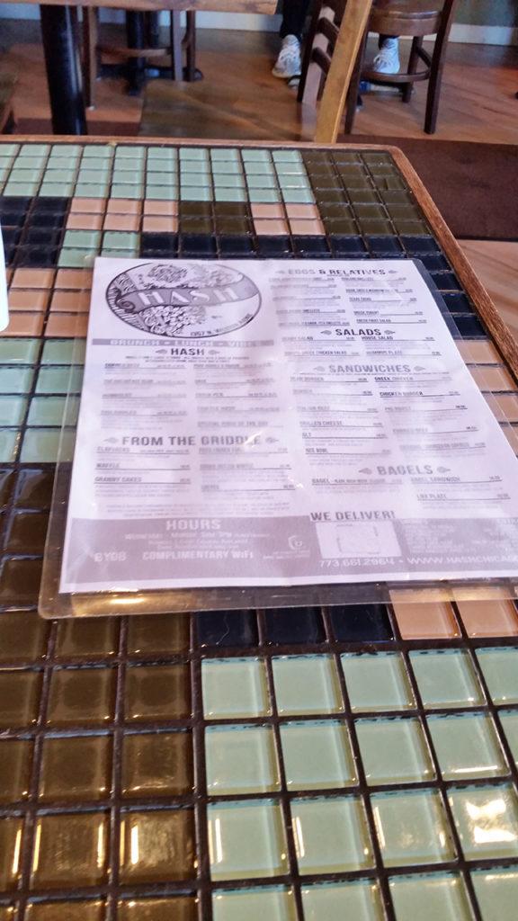 Hash menu