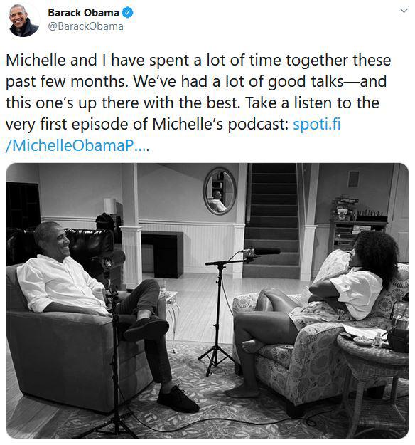 Barack Obama dans le podcast de Michelle