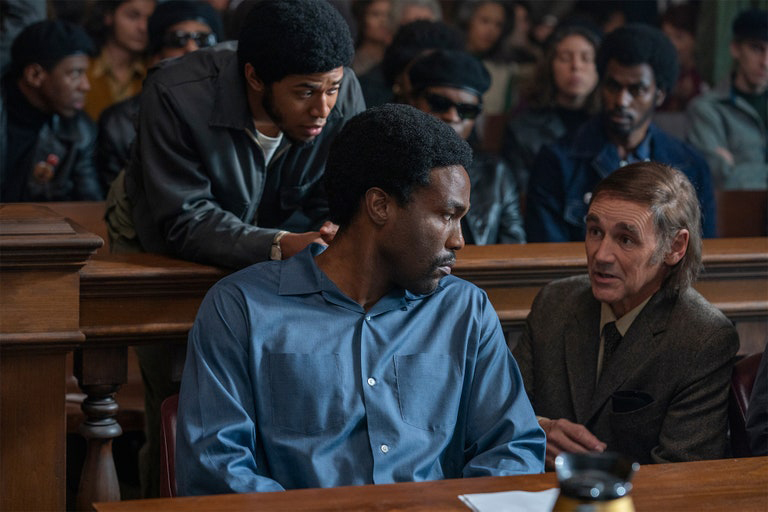 Yahya Abdul Mateen II et Mark Rylance - The Trial of the Chicago 7