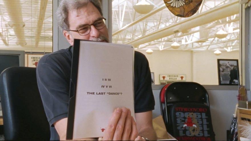 Photo extraite du documentaire The Last Dance avec Phil Jackson